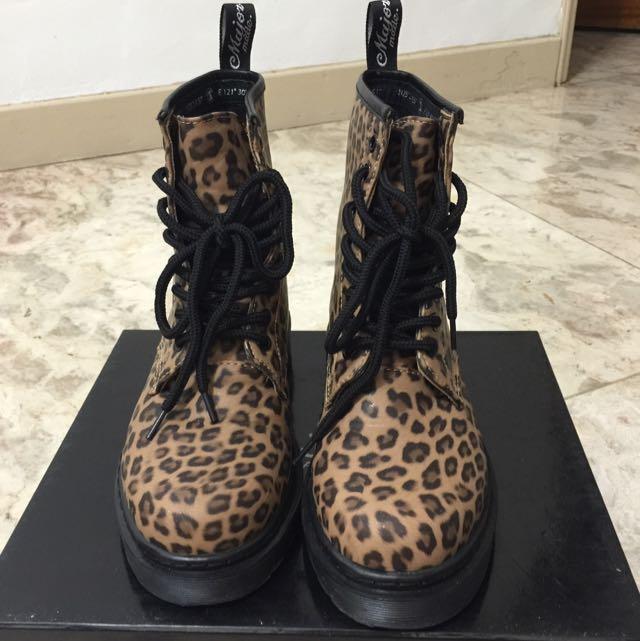 絕版Major Made 鉚釘豹紋軍靴🍂🍂