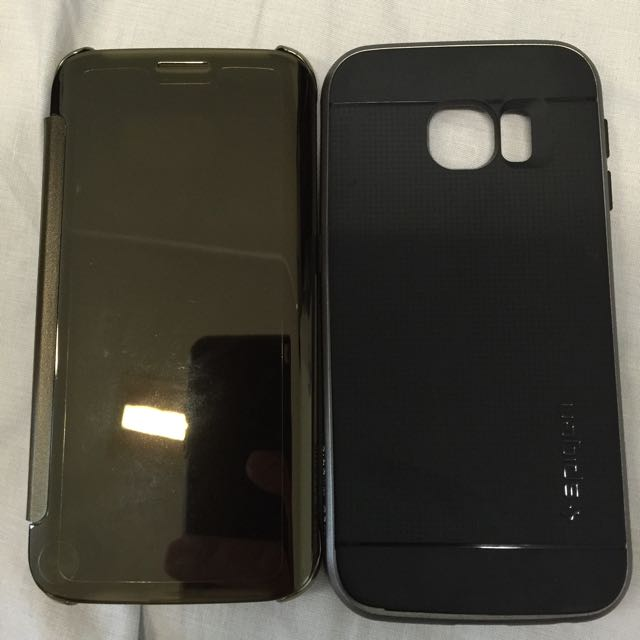 hot sale online 801d3 19cc4 Samsung Galaxy S6 Edge Original Clear View Cover (Reserved For Deal On  Saturday)