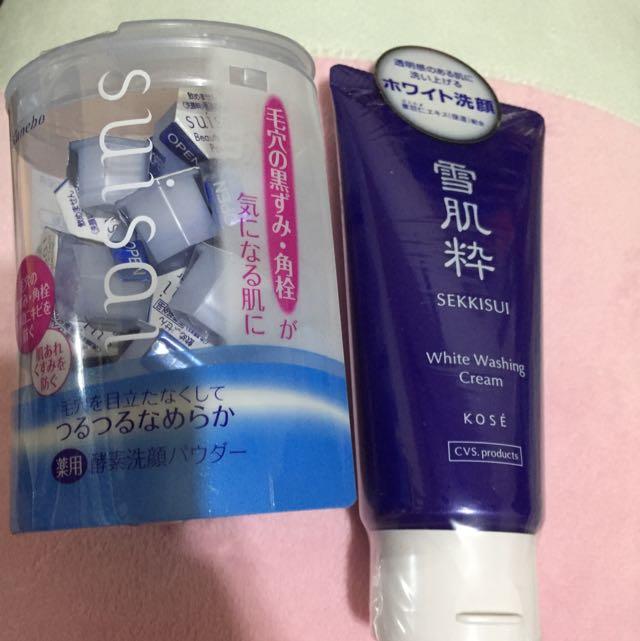 保留 Suisai酵素洗顏粉+雪肌粹洗面乳