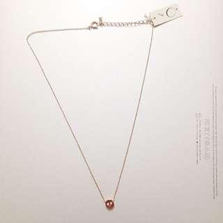 全新✨日本帶回 骷髏頭✨ 精緻玫瑰金 鎖骨鍊 項鍊
