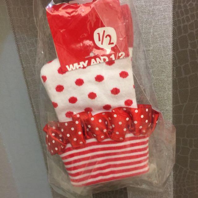 Why&1/2童裝 襪子 全新