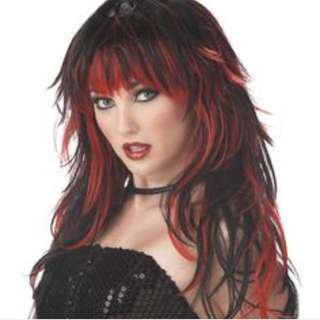Halloween Wig ( Black And Red)