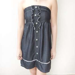 [ disc 15%: 42.500] ruffle tube dress