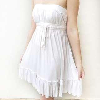 [ disc 15%: 42.500] white tube dress