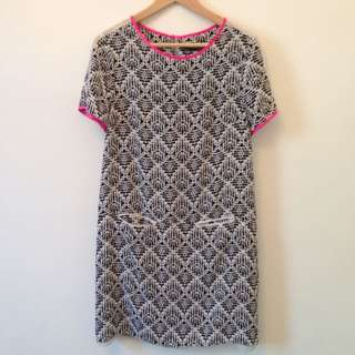 Patterned Shift Dress Sz 10