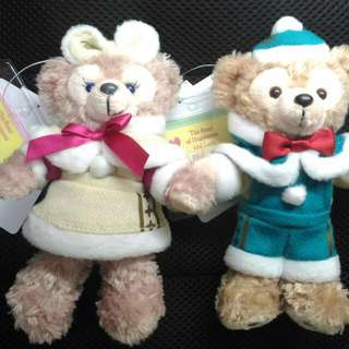 日本迪士尼絕版品 Duffy Shelliemay 聖誕節吊飾