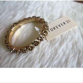 Forever 21玫瑰🌹彈性手環