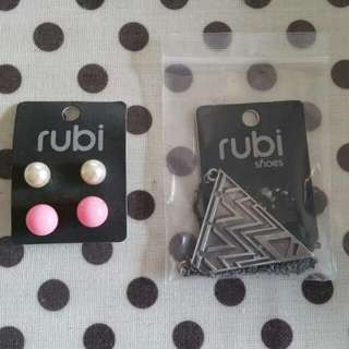 Rubi Earings And Necklace Set