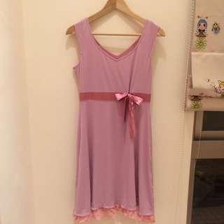 粉紫色小禮服