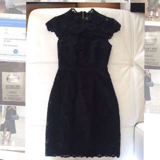 Forever new LBD With Gold Back Zipper - Size 4
