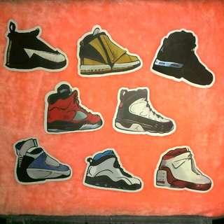 喬丹鞋系列  防水貼紙 單張 一張15
