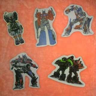 機器人系列  防水貼紙 單張 一張12 此組五張50元