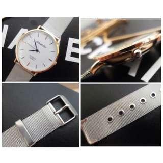 含運!極簡金屬錶帶手錶