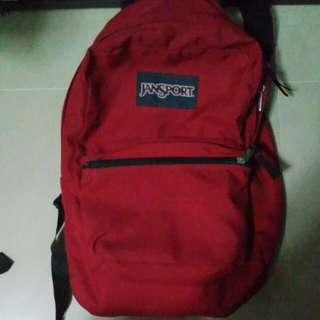 Red Jansport & Yakpak Bag