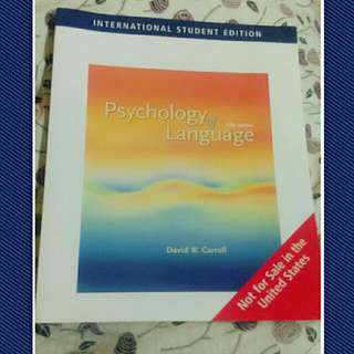 Psychology of Language 第五版