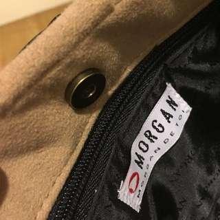 小摩根包,提把有一點小脫皮,麂皮質感,內有一個拉鍊袋,購買年份已久