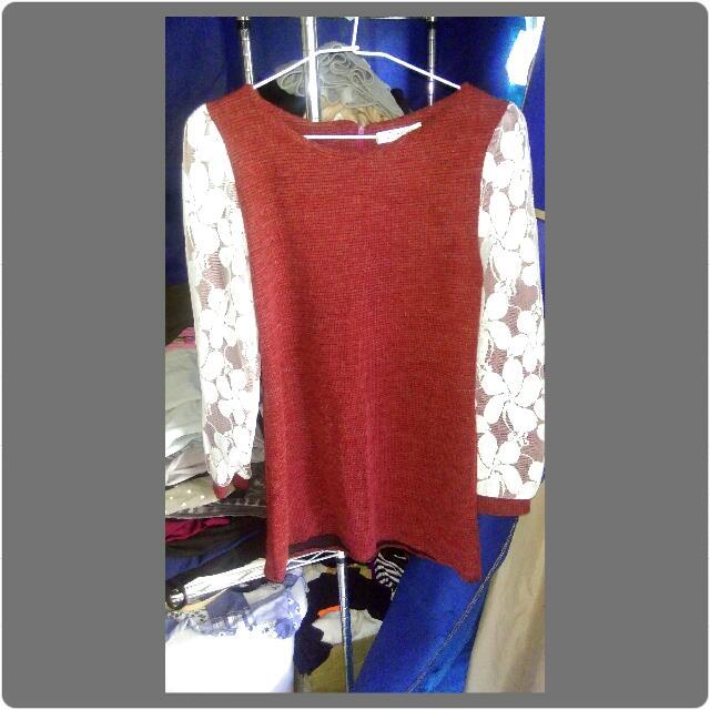酒紅色復古氣質洋裝