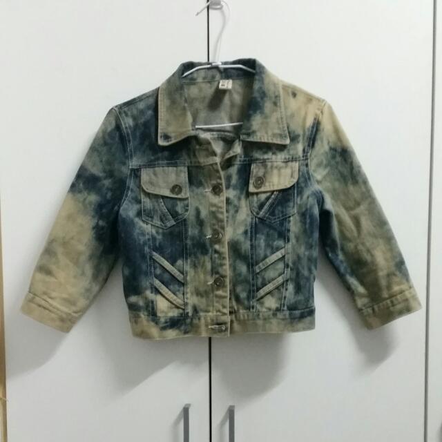 【降】【九成新】復古七分袖牛仔外套