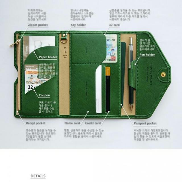 (快速到貨)-多功能旅行護照皮夾