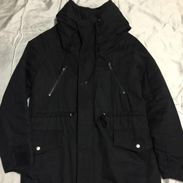 韓系修身長版外套