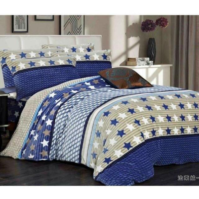 床工坊-法蘭絨 溫感絨 5尺雙人床包四件組 隨機花色 (獨家代理銷售) 特價 $1280
