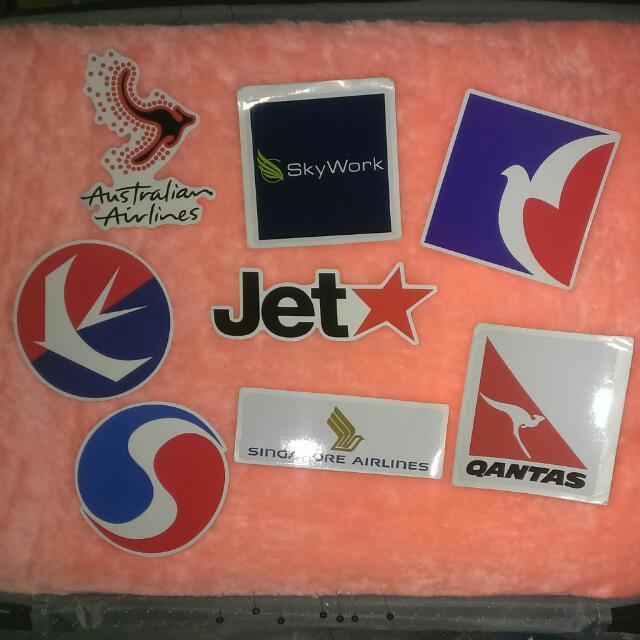 航空系列  防水貼紙 單張 一張12