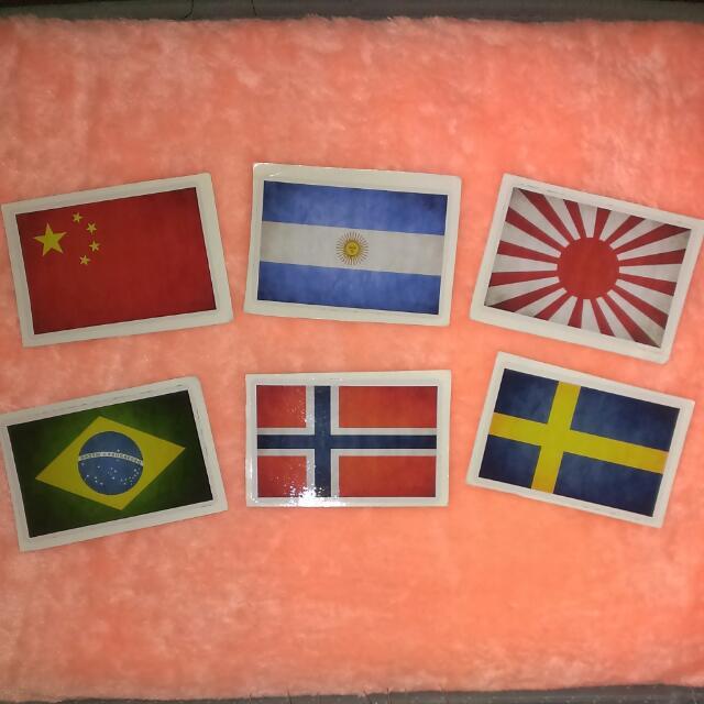 國旗系列  防水貼紙 單張 一張12 (3M材質)