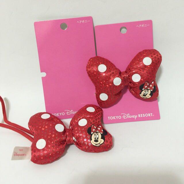 東京迪士尼 正版 米妮蝴蝶結髮飾