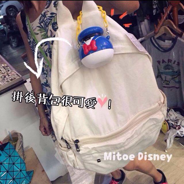 ✨全新✨白色帆布後背包 Mitoe購入