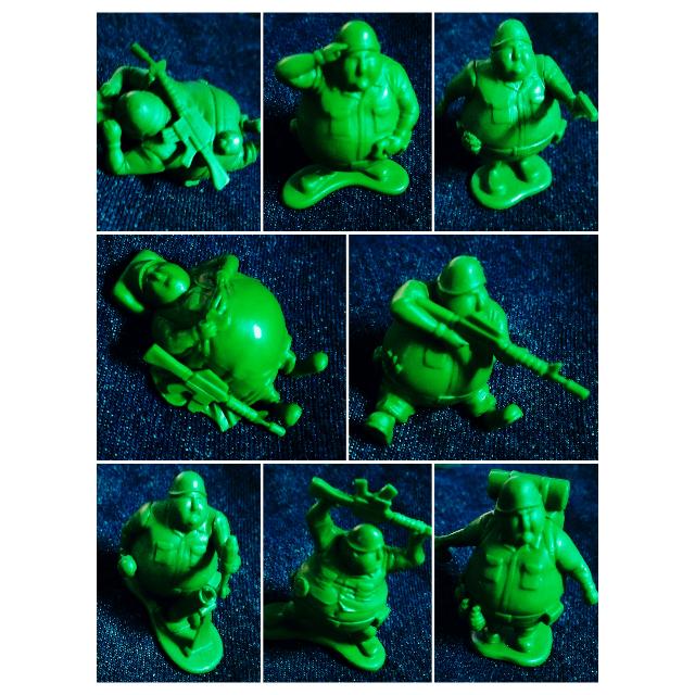 (售出)[全新] T-ARTS 熊貓之穴 綠色胖胖兵團綠色士兵 全8種 不拆售 含運