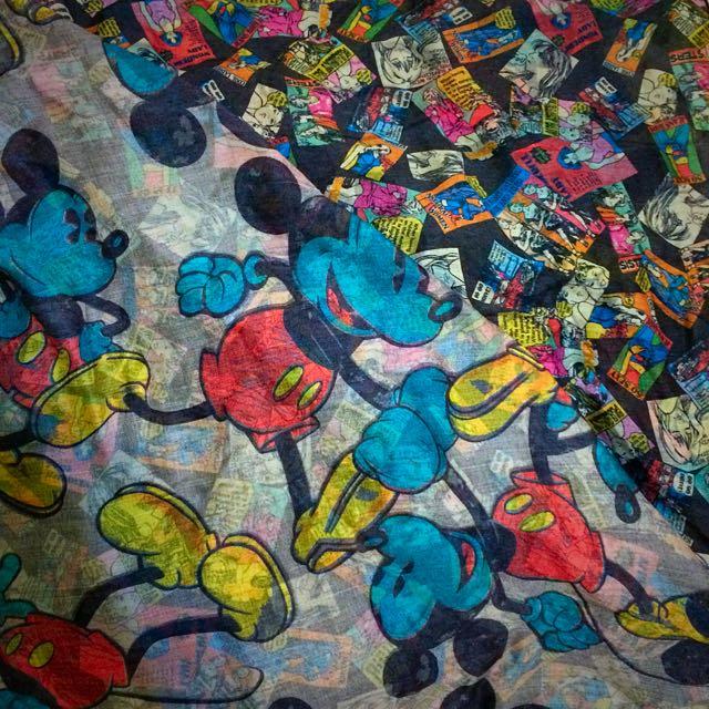 📢米奇 X 古著📢雙拼大方圍巾❗️