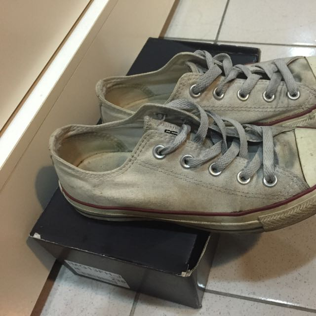 二手白色All Star情侶鞋帆布鞋