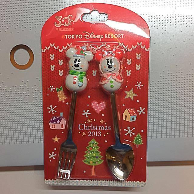 東京Disney Mickey雪人⛄️造型叉子湯匙 全新