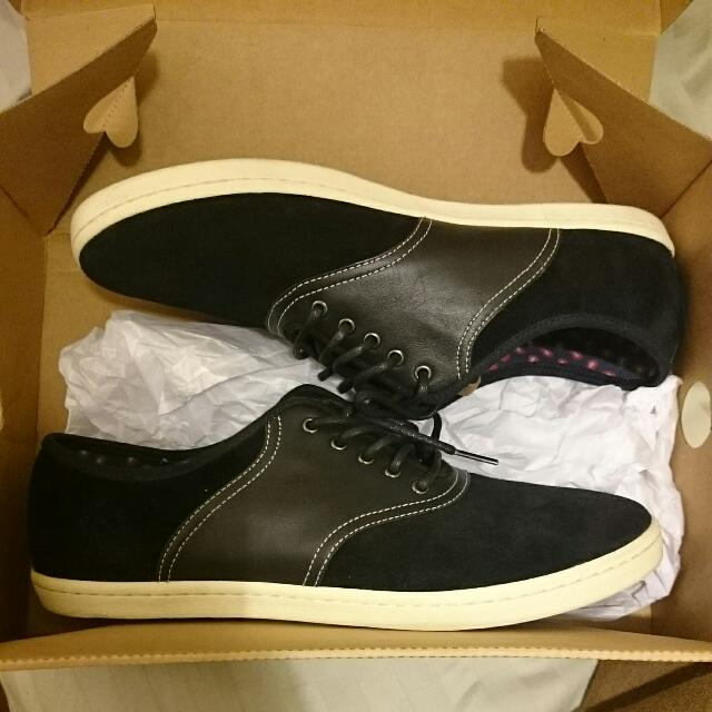 Fred Perry Us10 Colyer Suede/leather Shoes