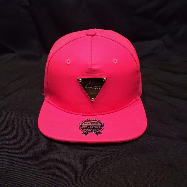 Hater 粉紅色棒球帽