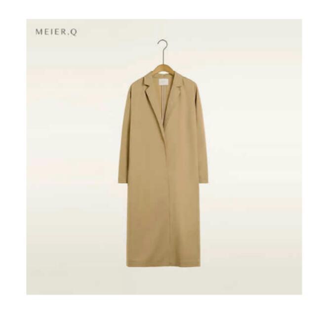 MeierQ (全新) 超長版風衣外套