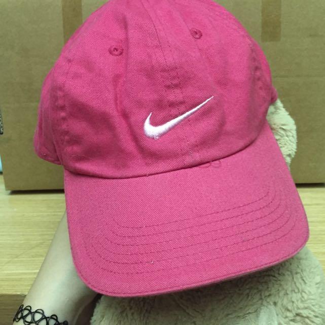 Nike 粉紅色 桃紅 老帽