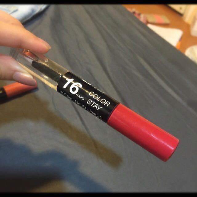ttmax16小時不脫妝液態口紅+護唇油