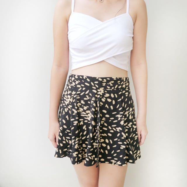 [ disc 15%: 51.000] yellow pattern skirt