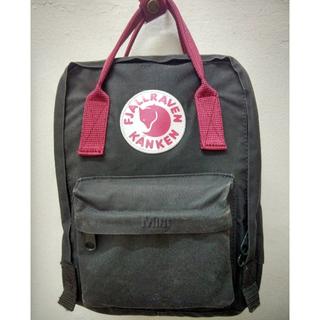 Fjallraven Kanken Mini Forest Green & Ox Red Backpack