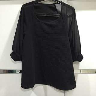 黑氣質雪紡紗