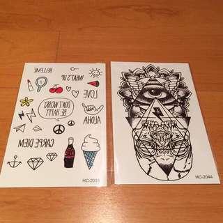 Tattoo 紋身貼紙 萬聖節 Old School
