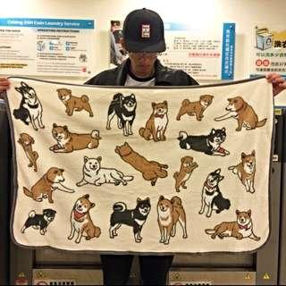 柴犬毛毯/蓋毯/珊瑚毯