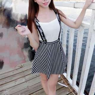 個性吊帶裙