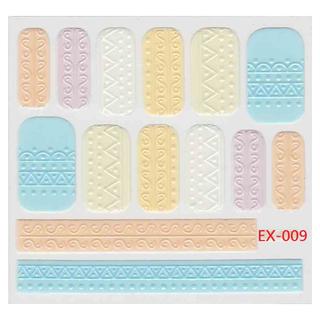 《Dear34》立體毛線指甲貼紙(6.4×6.6CM)EX-009