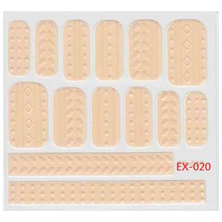 《Dear34》立體毛線指甲貼紙(6.4×6.6CM)EX-020粉橘