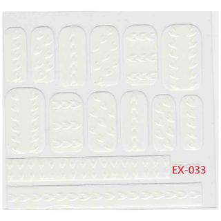 🚚 《Dear34》立體毛線指甲貼紙(6.4×6.6CM)EX-033白色千鳥格