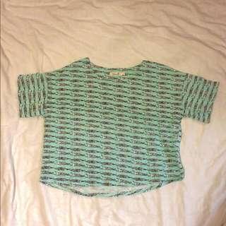 鱷魚短版T恤