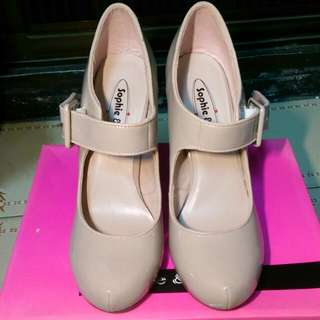 Sophie&Sam粉色高跟鞋/瑪麗珍鞋