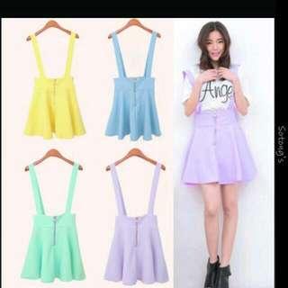 Sales!! Suspender Skirt Pastel Colour